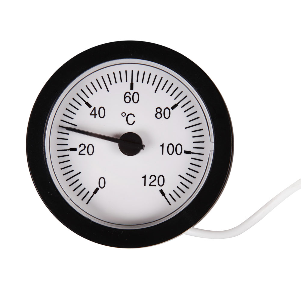 Dial Thermometer capillary Temperature Gauge 0 120C Water & Oil 1 ...