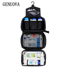 New Hanging Toiletry Bag Travel Wash Organizer Kit for Men Women Cosmetics Make Up Sturdy Hook Shower Bags