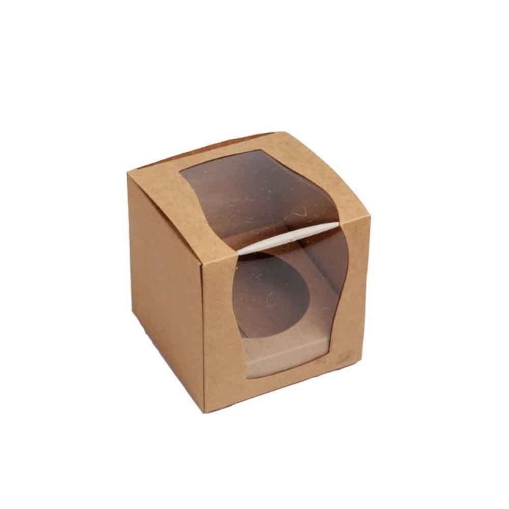 UUSI DESIGN Yksi 9x9x9cm Cupcake-laatikot Häät-lahjapakkaus Favor - Tavarat lomien ja puolueiden - Valokuva 2