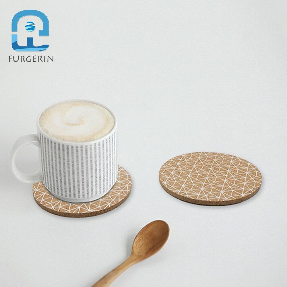 Furgerin 2 Stks Cup Coaster Set Nordic Cup Placemat Pad Hout Placemats Voor Keuken Tafel Onderzetters Kurk Placemats Bar Mat Koop Altijd Goed