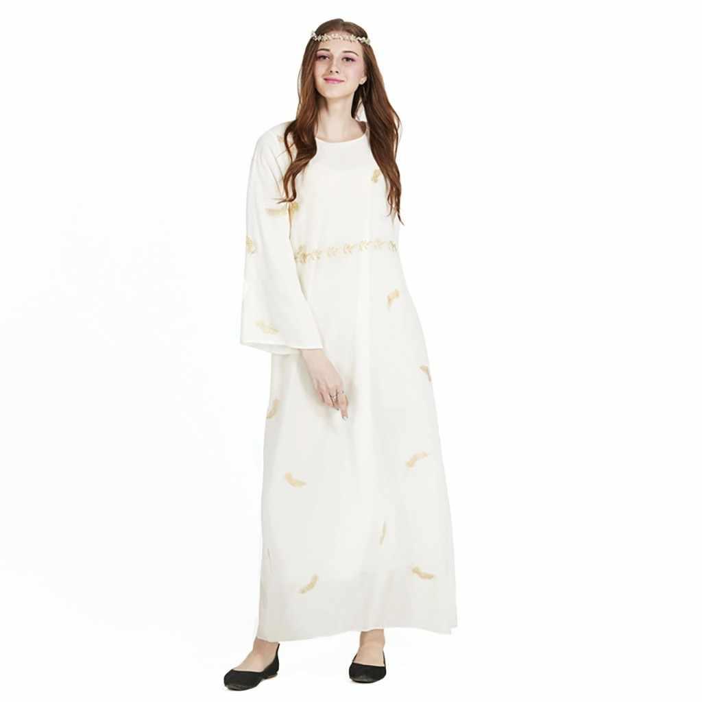 Di Modo musulmano Dubai Abaya 2019 Tessuto Abito Abito Caftano Abaya Nero Vintage Più Il Formato Vestaglie Abiti Robe Dresses19 #45