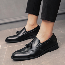 Large size 38-48 Fashion Summer Tassel Men Casual Leather Flats Shoes Slip On Lazy Driving Loafers Moccasins Boat Shoes Men цена