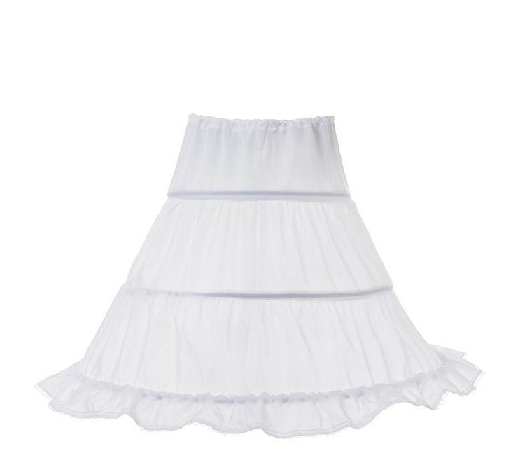 New Formal 3 Hoops Children Kid Skirt Petticoat Crinoline Underskirt Wedding Accessories For Girls Ball Gown Elastic Waist