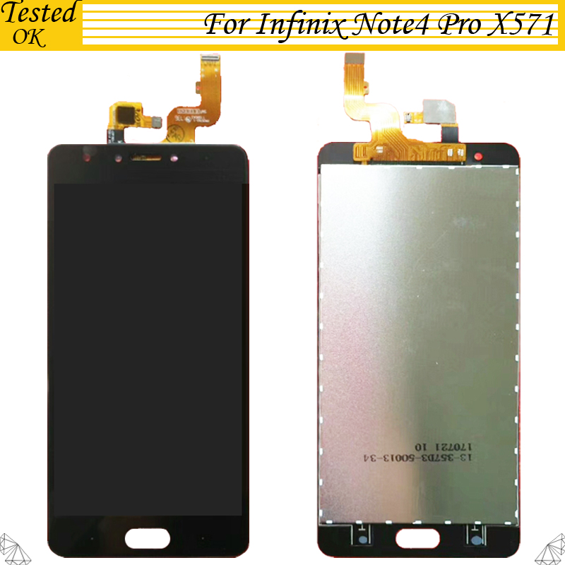 100% Tested Working For Infinix Note 4 Pro X571 LCD Display and Touch Screen Digitizer Assembly Lcd Replacement For Infinix X571