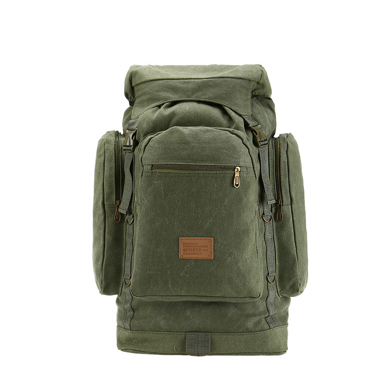 Large Capacity 60L Vintage Canvas Backpack For Men Wear-resistant Canvas Amy Fan Pack Men's Backpack Travel minecraft plecak wear resistant casual men backpack