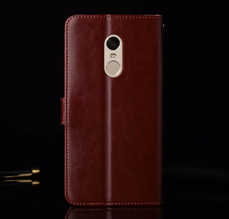 Original Xiaomi Redmi NOTE 4 Case Flip Wallet Genuine Leather Cover For Xiaomi Redmi NOTE 4X