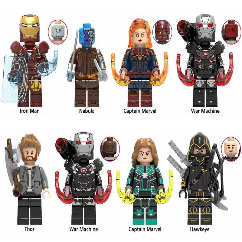 Marvel Avengers 4 Super Heroes LegoINGlys  Infinity War Captain America Iron man Thanos Spider Hulk Building Blocks Figures Toys