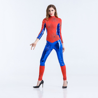 Sexy Amazing Spiderman Costume for Women Halloween Carnival Superhero Spider Superwoman Fancy Party Dress Up Outfits Jumpsuit