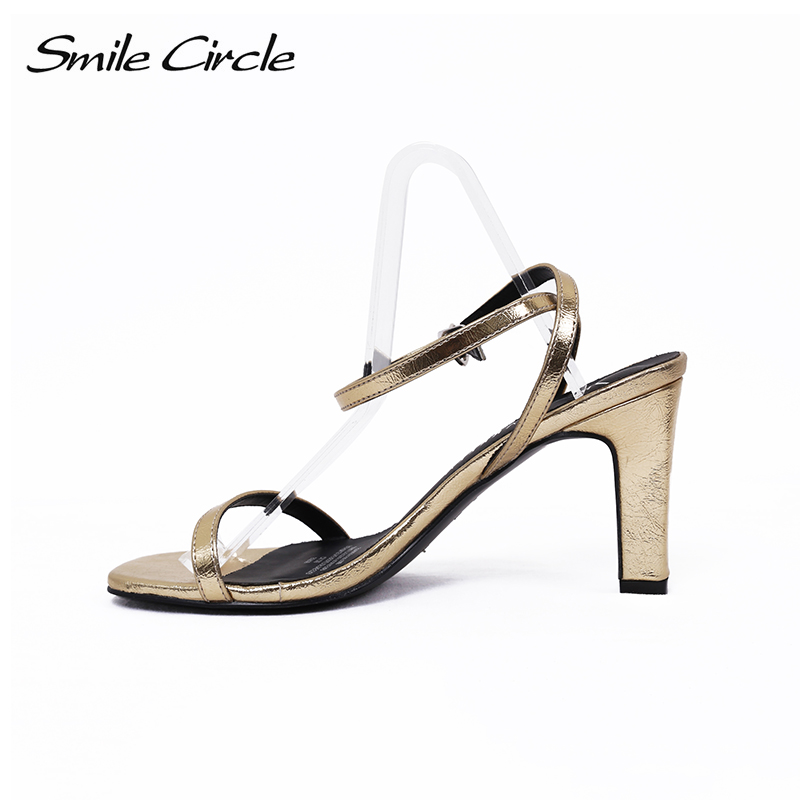 Smile Circle 2018 Summer Sexy Sandals Women shoes Fashion high heels Women Sandals Female shoes Square toe Woman Sandals msfair women square toe wedges sandals fashion butterfly crystal high heels woman sandals 2018 new summer women high heel shoes