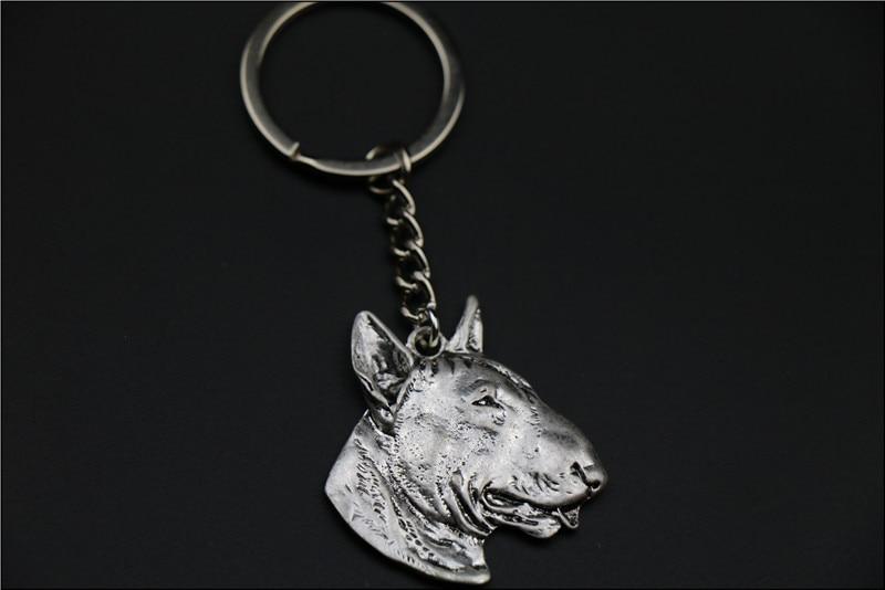 Bull Terrier Porte-clés bijoux Populaire chien En Relief Porte-clés Nouvelle Mode Argent/or couleurs