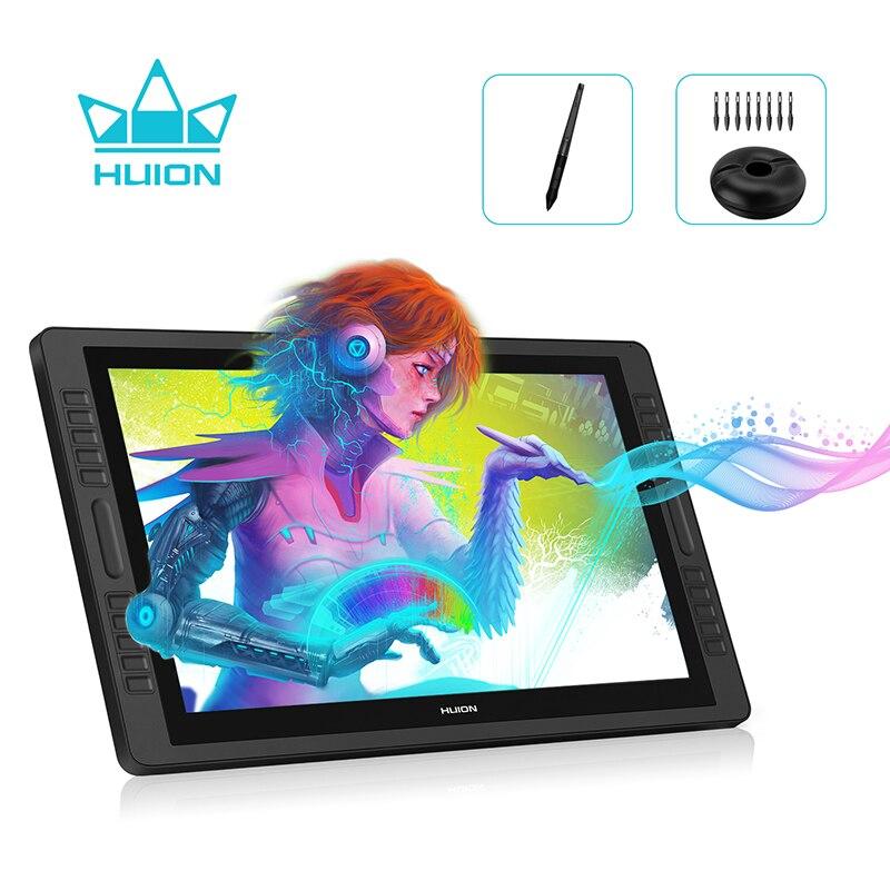 HUION KAMVAS Pro 22 8192 niveles AG cristal sin batería lápiz Monitor de pantalla dibujo Digital lápiz tableta Monitor-GT-221