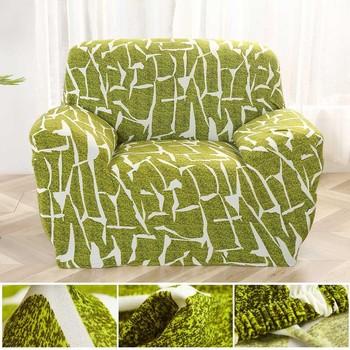 Czerwony wzór pojedyncza sofa pokrywa bawełna Stretch elastyczny narzuta na sofę s do salonu Copridivano narzuty na fotele narzuta na sofę tanie i dobre opinie coolazy 90-140cm 145-185cm 195-230cm 235-300cm sofa slipcover Rozkładana okładka Drukowane Nowoczesne Floral Trzy-seat sofa