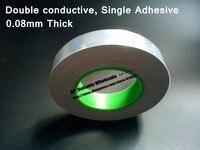 85 мм * 50 м * 0.085 мм толщиной Двусторонняя проводимость, один липкий, алюминий Фольга маска Клейкие ленты для ЖК дисплей, PDP