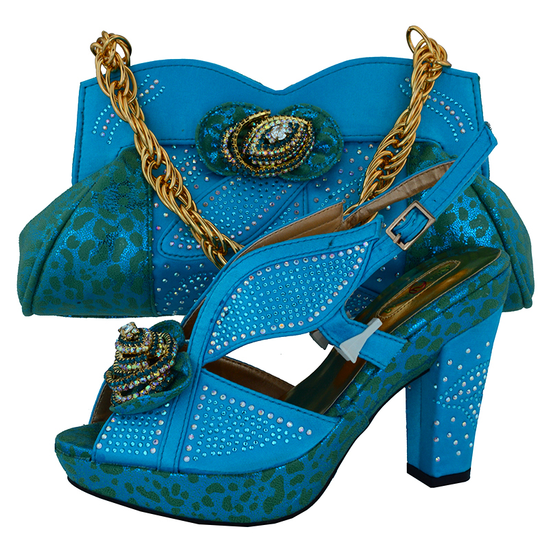 High heel 4.8 inches turquoise blue shoes and bag matching set high heel with clutches bag SB8074 with free shipping cd158 1 free shipping hot sale fashion design shoes and matching bag with glitter item in black