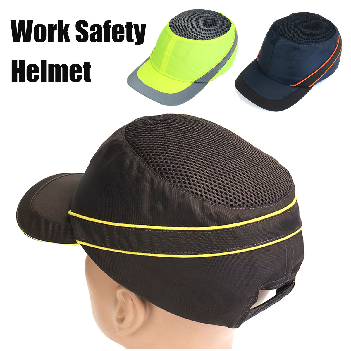Fashion Sunscreen Cap Work Safety Helmet Breathable Anti-impact Light Weight Construction Helmet Self Defense Weapons bump cap work safety helmet summer breathable security anti impact lightweight helmets fashion casual sunscreen protective hat