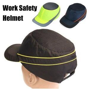 Image 1 - Moda güneş koruyucu kap iş emniyet kaskı nefes Anti darbe hafif inşaat kask kendini savunma silahları