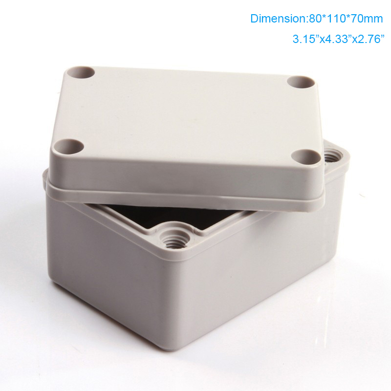 dustproof & Waterproof Plastic Ip66 Electronic Abs Junction Box 80*110*70mm Clever Free Shipping Tools