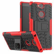 For Sony Xperia XA2 Plus Case Hard TPU+PC Armor with Stand shockproof Hybrid Protective back Cover cases sony xa2 plus shell