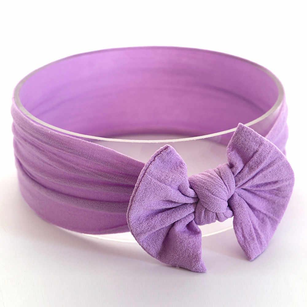 เด็กผ้าโพกศีรษะทารกแรกเกิดน่ารักอุปกรณ์เสริมทารกเด็กวัยหัดเดินทารกวงกลมผีเสื้อ Knot Headband ยืด Hairband Headwear * 35