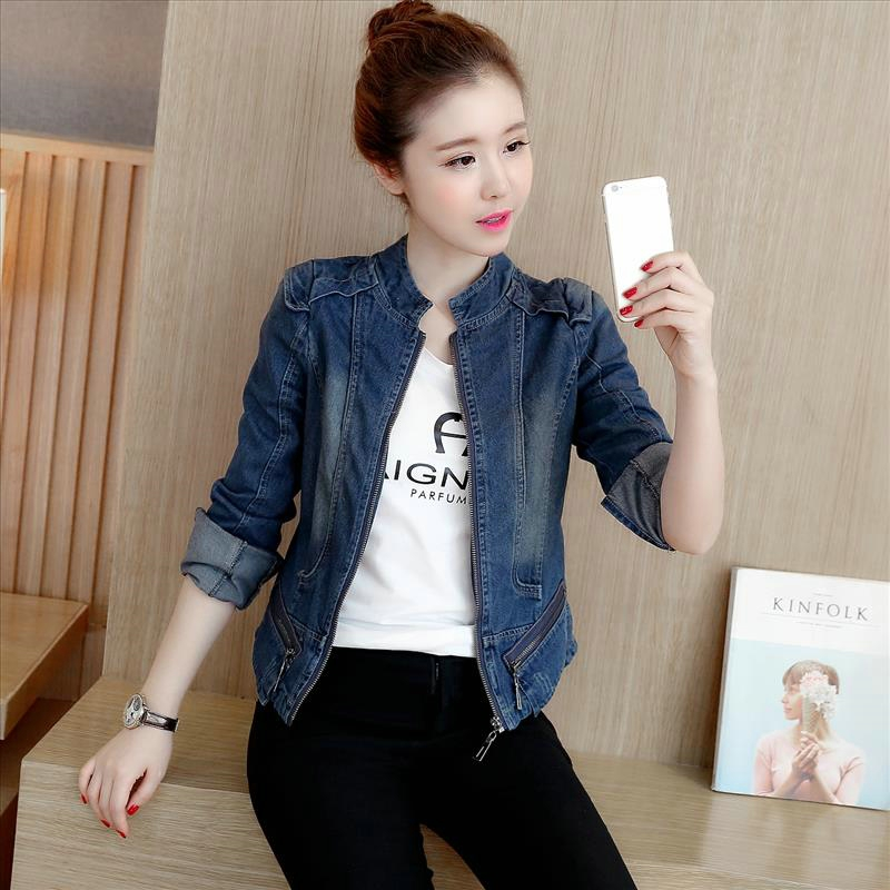 New Arrival Slim Denim Jacket Women Coat Jacket Spring Woman Koean Style Casual Ladies Jackets Women Coat 2018 Plus Size BS002