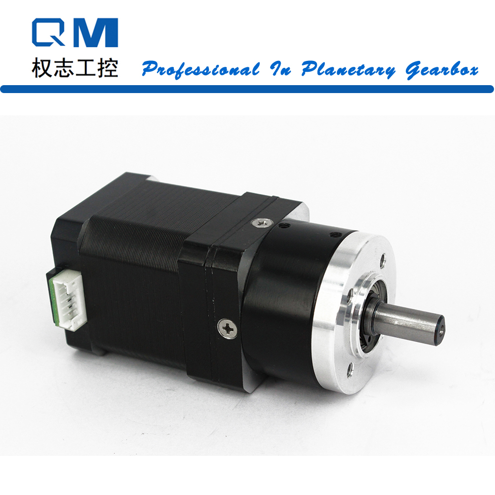 Gear stepper motor nema 17 stepper motor L=48mm planetary reduction gearbox ratio 3:1  cnc robot pump dunlop stage 3