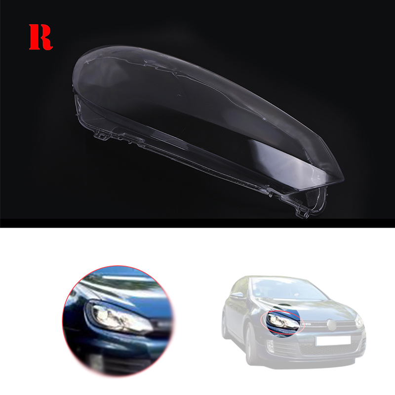 Right Side Transparent Housing Headlight Lense Shell Cover Lamp Assembly For VW <font><b>Golf</b></font> 6 MK6 TDI 2010 <font><b>2011</b></font> 2012 2013 #P517-<font><b>R</b></font> image