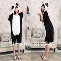Red Tear Panda Summer  for Adults Cartoon Animal Cotton Onesies Pajamas Jumpsuit Hoodies Cosplay Costumes for Adult