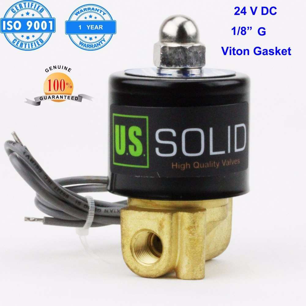 U S Solid 1 8 Brass Electric Solenoid Valve 24 V DC G Thread Normally Closed