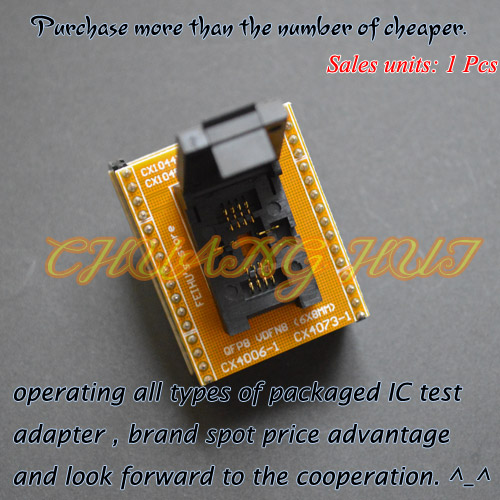 TEST 6*8mm QFN8 to DIP8 Adapter for SUPERPRO5000E/5000 CX1045 CX1016 CX1048-1 adapter module can be used after modification 3b0365 dip 8