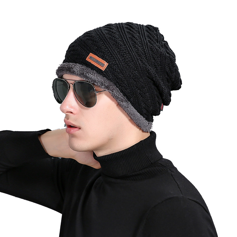 bad652dd480 HaisongcaiHedy 2018 New Oblique Line Knitted Hat with Fur Men Women Winter  Spring Warm Cap Outdoor Skullies Beanies Bonnet H649-in Skullies   Beanies  from ...