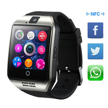 Free shipping New Q18 Passometer Smart watch with Touch Screen camera TF card Bluetooth smartwatch for Smart Phone