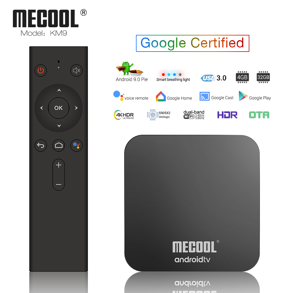 US $55 99 30% OFF|Mecool KM9 4GB DDR4 32GB Google Certified Android TV Box  S905X2 5G WIFI Bluetooth 4 1 4K HD Voice Control TV Box Set Top Box-in