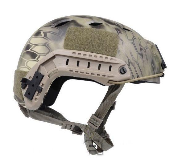 ФОТО Airsoft FAST helmet style Base Jump BJ Helmet ( Kyptek Highlander ) cycling helmet