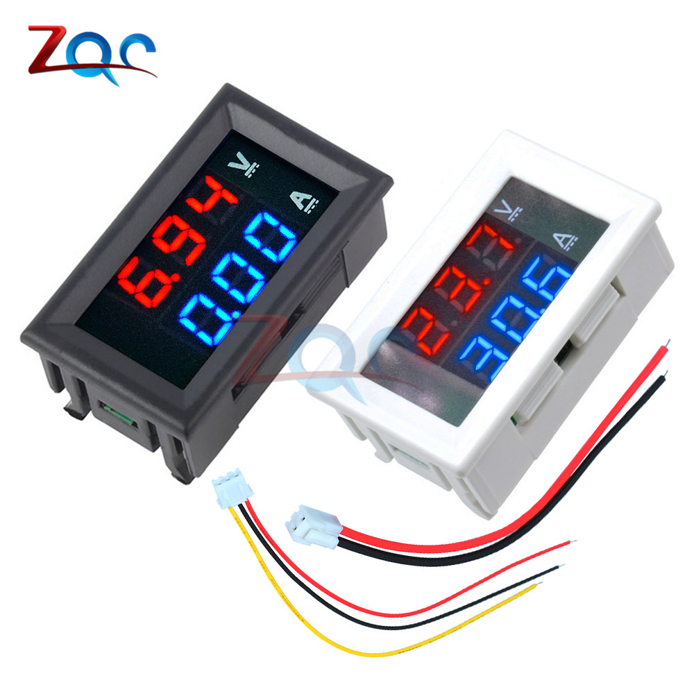 Dual LED Display Mini Digital Voltmeter Ammeter DC 100V 10A Panel Amp Volt Voltage Current Meter Tester Motorcycle Car Auto