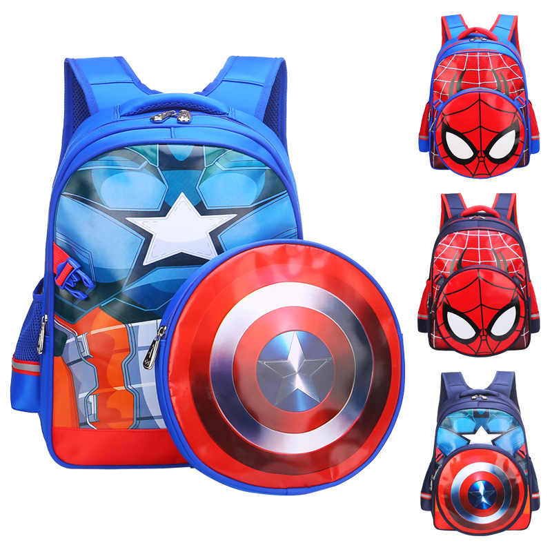 Cosplay Captain Backpack America Bags Steve Rogers Students Decompression Bag Kids Superhero Cosplay