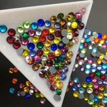 SS6-SS30 High Quality Flatback White Colorful Red HotFix Rhinestone Crystal AB Glitter Iron On Strass Diamond For Clothes