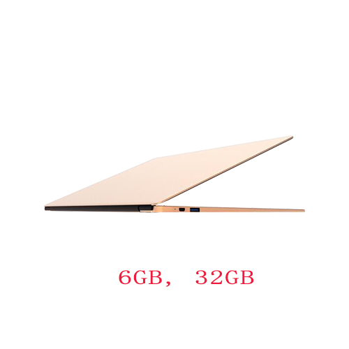 US $362 0 |13inch Aluminium ultrabook laptop Intel N3450 Quad core 4  threads 6GB DDR3 RAM 32GB 120GB SSD finger printing Windows 10 -in Laptops  from