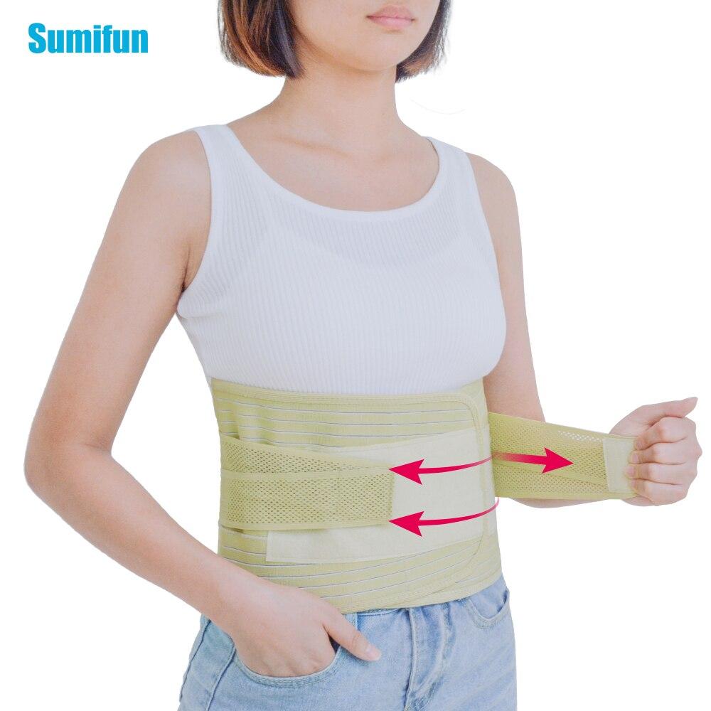 1pcs adjustable breathable lumbar support belt back waist treatment of lumbar disc herniation lumber muscle strain