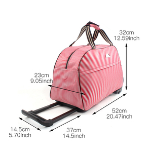 Image 5 - Luggage Bag Travel Duffle Trolley bag Rolling Suitcase Trolley Women Men Travel Bags  With Wheel Carry On bag