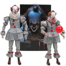 18cm NECA Stephen King's It Pennywise Joker Clown Action Figure Toys BJD Dolls Collectible Model for Kid Boy Girl Christmas Gift(China)