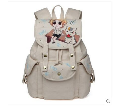 Anime Natsume Yuujinchou Cosplay 2017 new animation canvas bag casual backpack Korean fashion students rdgguh backpack bag new of female backpack autumn and winter new students fashion casual korean backpack