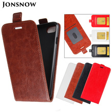 JONSNOW Flip Leather Case for iPhone 6S 7 8 Plus Phone Cover X XR XS Max Holster with Card Slot Capa Fundas