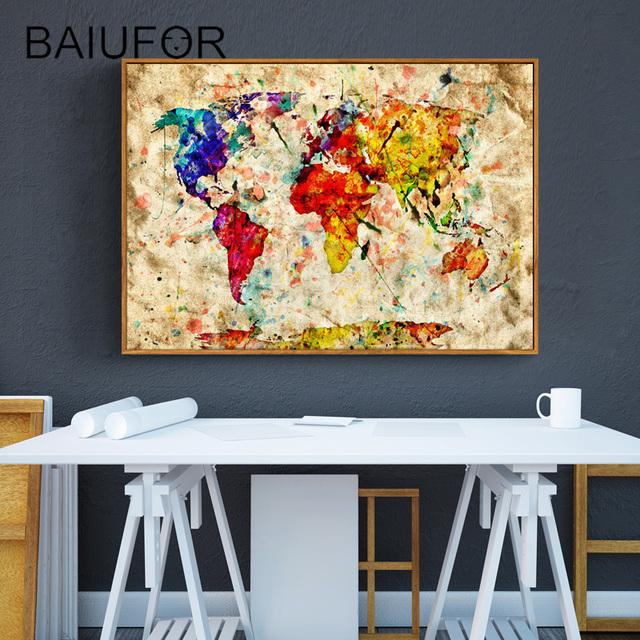 BAIUFOR Full Diamond Painting Embroidery with Diamond Mosaic World ...