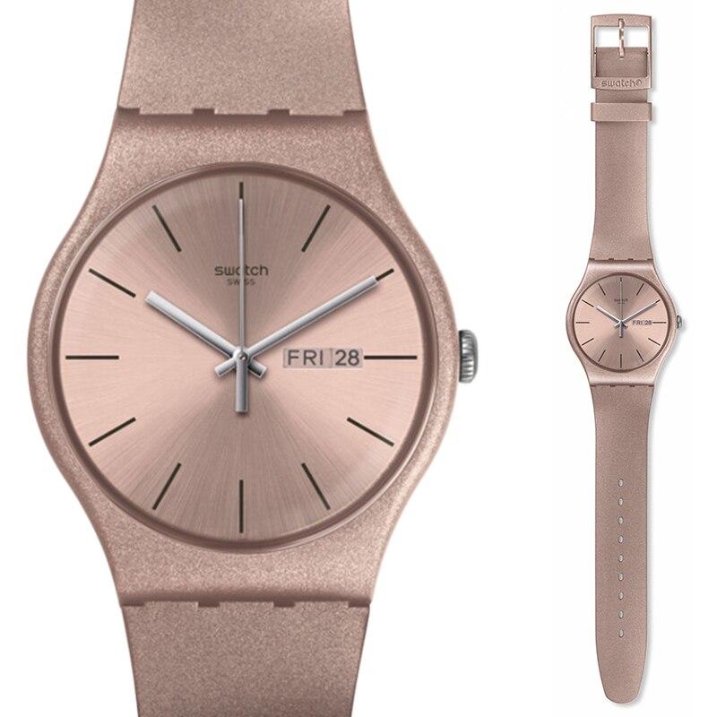 นาฬิกา Swatch สีเดิม series แฟชั่นควอตซ์นาฬิกา SUOP704-ใน นาฬิกาควอตซ์ จาก นาฬิกาข้อมือ บน   1