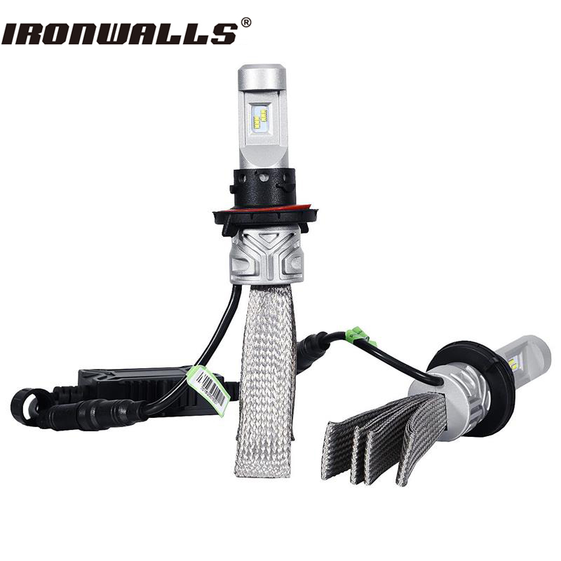 Ironwalls H4 H7 H11 H13 9005 9006 Led Car Headlight Bulbs 72W Cree Csp Chips 6500K 8000Lm Front Fog Light Headlamp Kit 12V 24V ironwalls h11 led car headlight bulbs cree csp chips 72w 8000lm 6500k auto front fog light headlamp 12v 24v for ford toyota