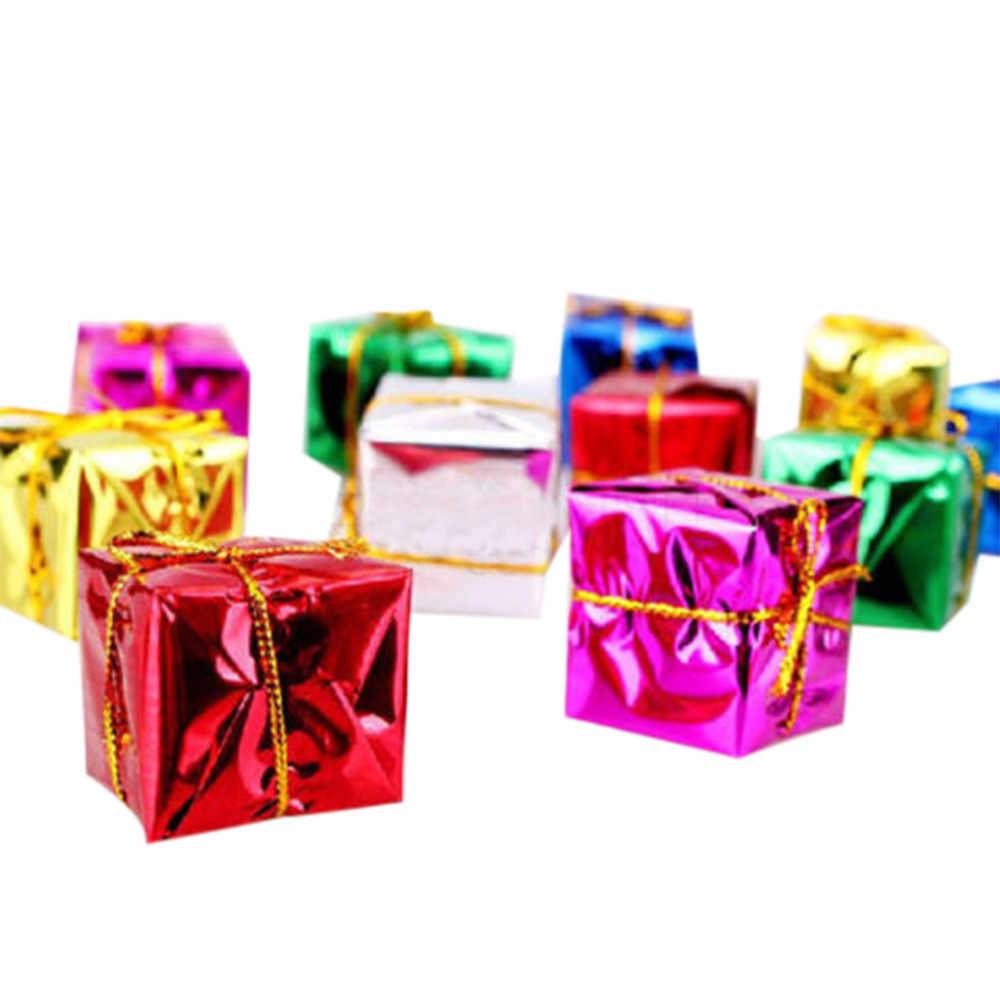 12ชิ้น/ล็อตChristmas TreeแขวนMini 2.5ซม.โฟมของขวัญกล่องจี้Dropเครื่องประดับตกแต่งคริสต์มาสเด็กเล่น #15