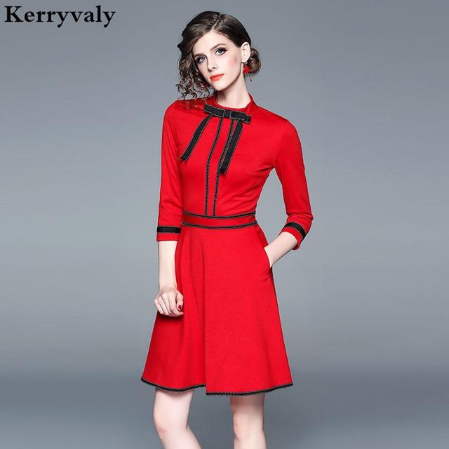 Spring Women Party Red Christmas Dress Vestido Invierno ...