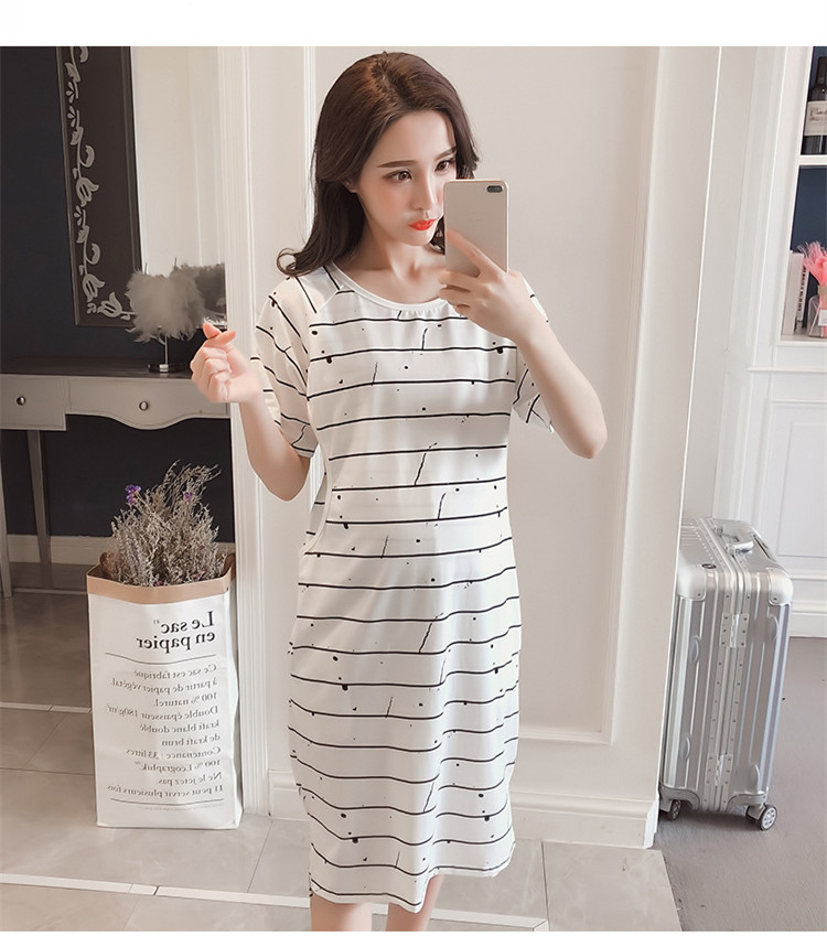 e3f93956a5e Fdfklak Large size cotton night dress for pregnant women pregnancy  nightgowns casual maternity nightwear maternity clothes-in Sleep   Lounge  from Mother ...