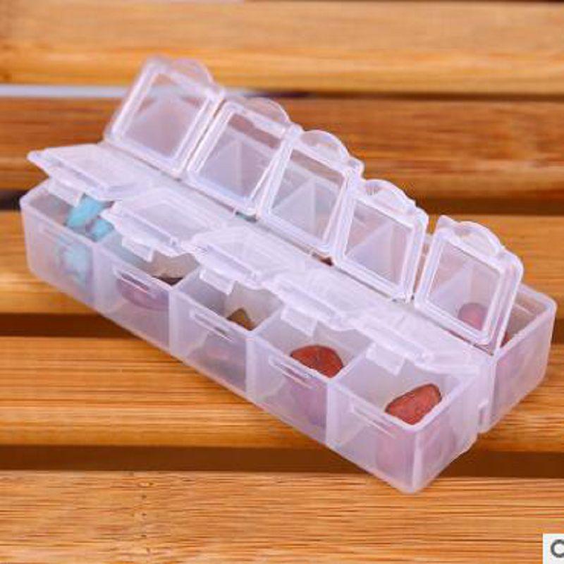 1 stuks 10 compartiment leeg plastic opbergdoos steentjes dired bloem - Home opslag en organisatie - Foto 1