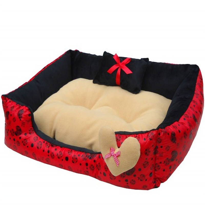hot sales cute double pillow pet dogs beds super soft material warm dog house 5245cm pet dog bed pad free shipping